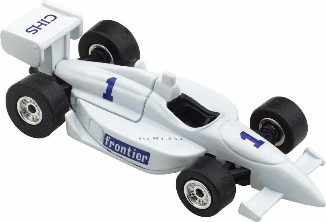 White Indy Racer Die Cast Mini Vehicles - 3 Day