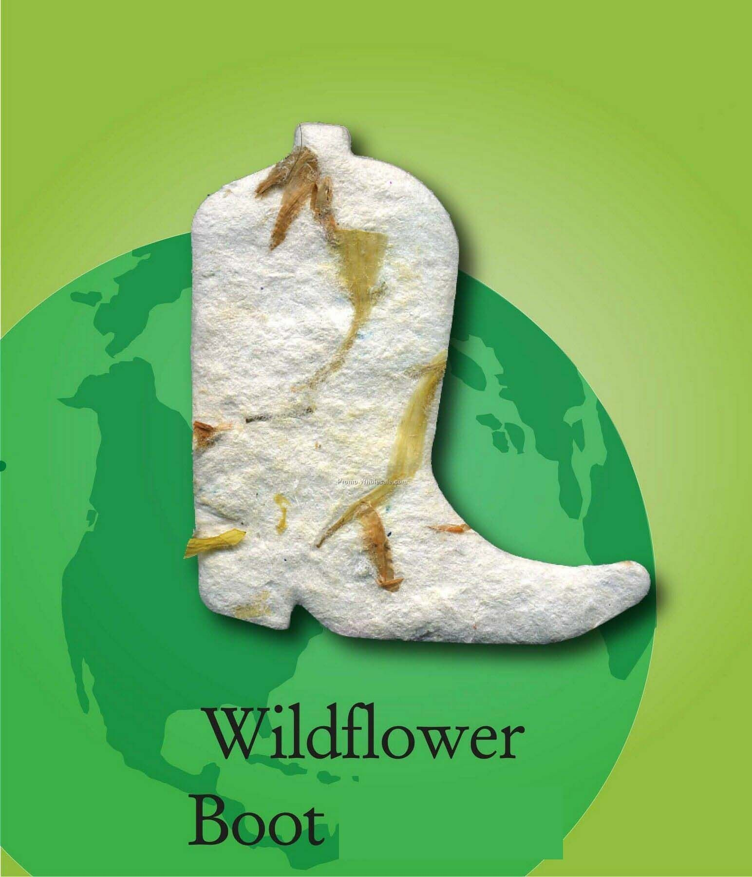 Wildflower Boot Handmade Seed Plantable Mini
