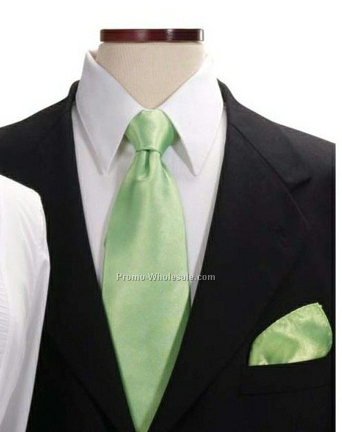 Wolfmark Kelly Green 100% Polyester Pocket Squares
