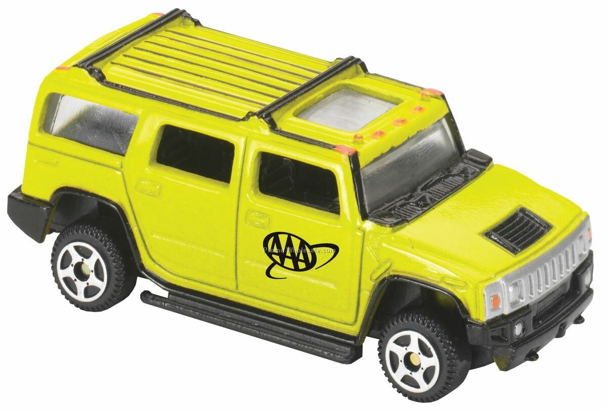 Yellow H2 Hummer Die Cast Mini Vehicles