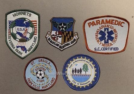 "12"" Embroidered Photo Emblems W/Color Border"
