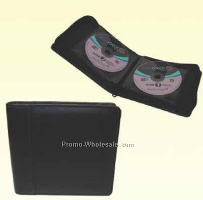 12 Page Leather Case CD Holder (Engraved)