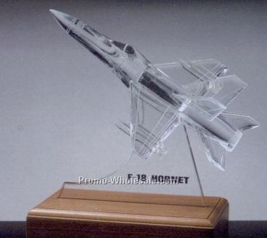 "12""x12""x6"" Replica F-18 Mornet Rocket W/ Base"