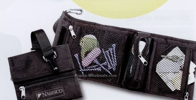 "13-1/2""x6"" 600d Polyester Golf Caddy Pouch - Screen Printed"