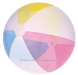 "16"" Inflatable Opaque Summer Color Beach Ball"