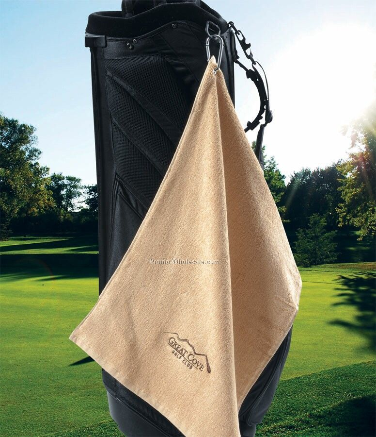 "16"" X 25"", 70% Bamboo 30% Cotton Golf Towel (Embroidered)"