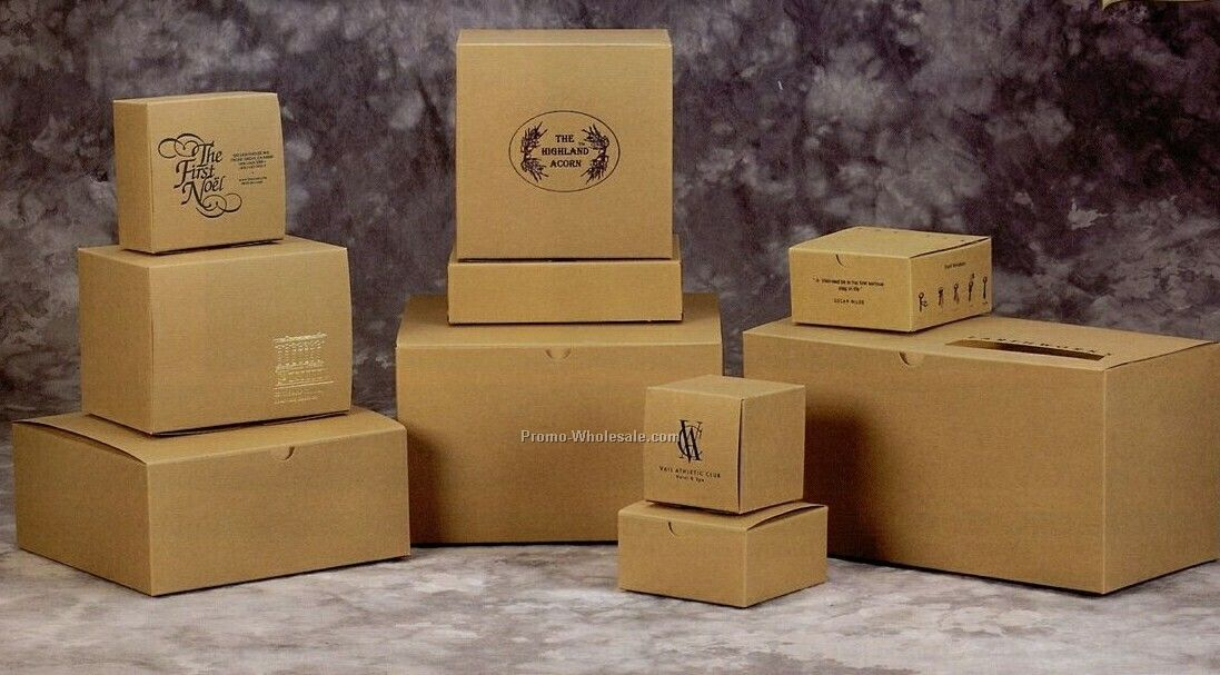 2-piece Pop-up Natural Kraft Gift Boxes