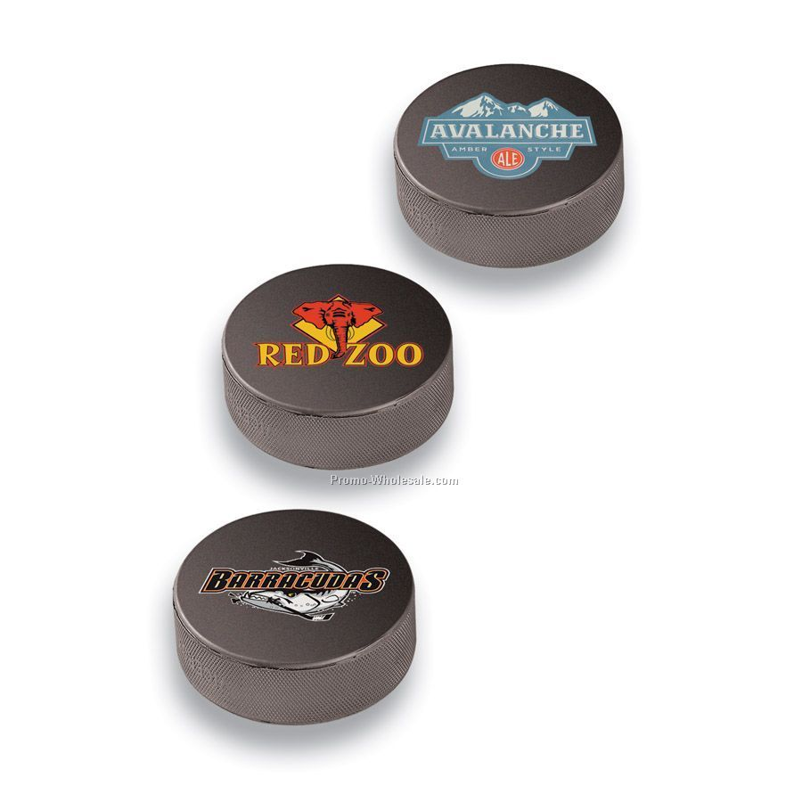 "3"" Diameter Souvenir Hockey Puck (4 Color)"