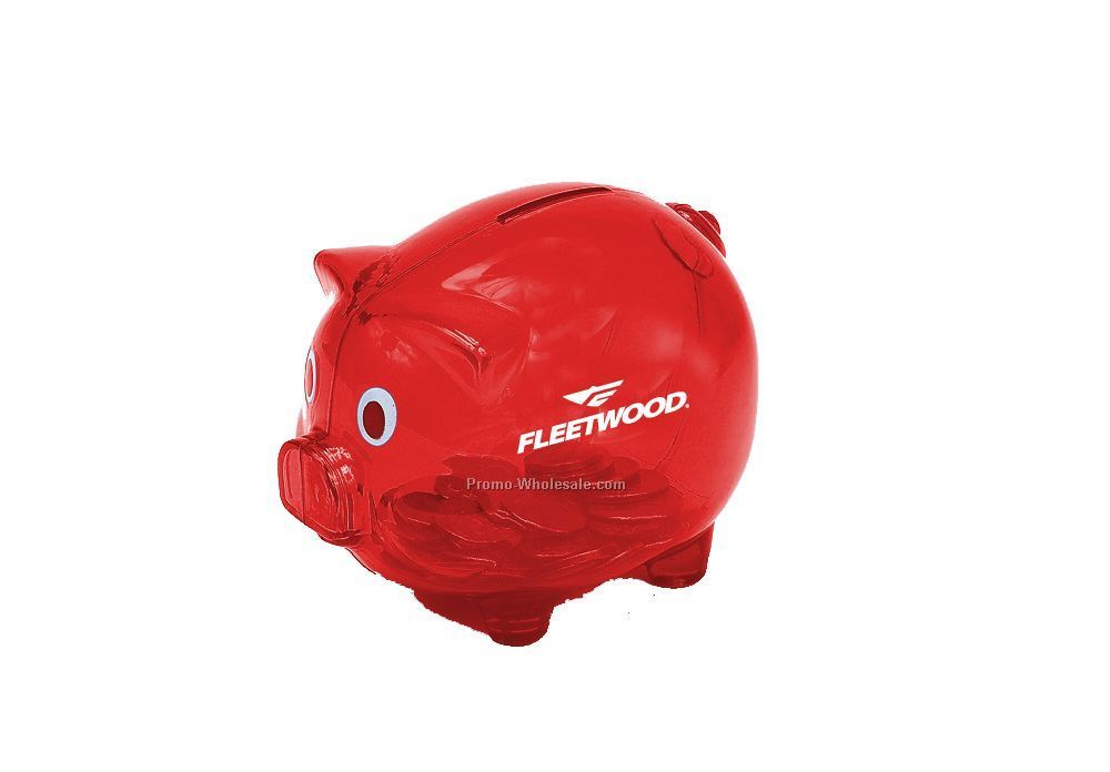 "5""x4"" Red Piggy Bank"