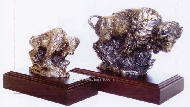 "6"" American Bison Sculpture - Charge"