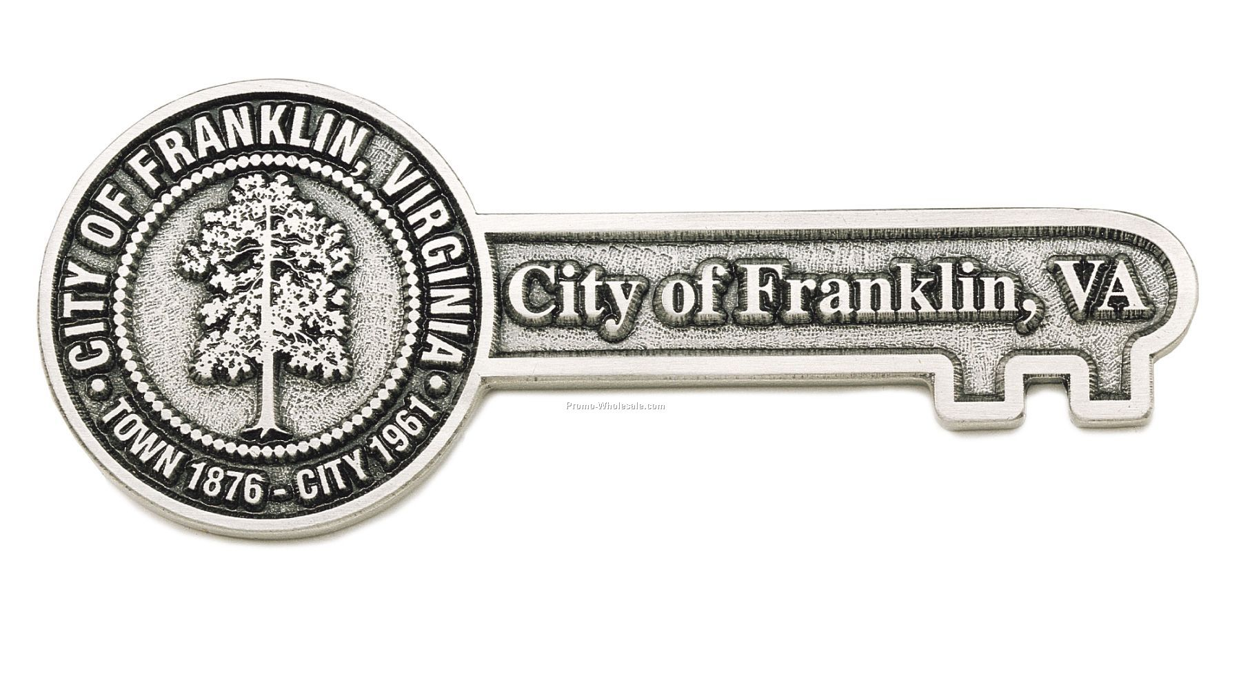 "6""x2-1/2"" Spinline Cast Key To The City"