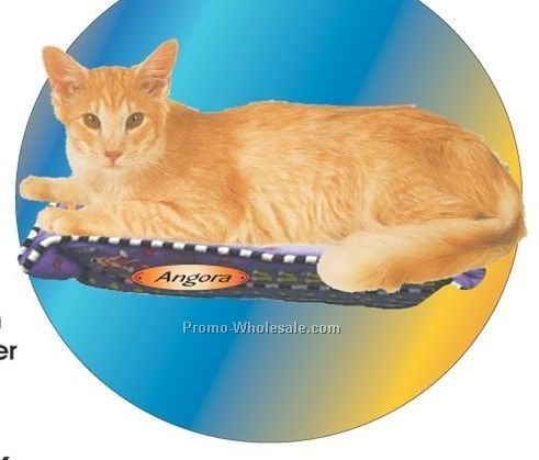 Angora Cat Acrylic Coaster W/ Felt Back