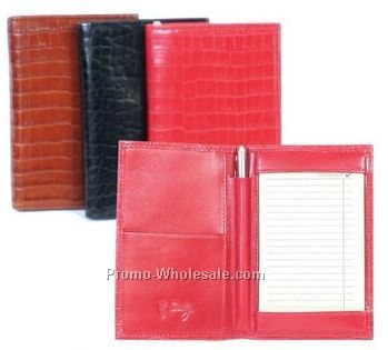 Beige Soft Lamb Leather Folded Jotter