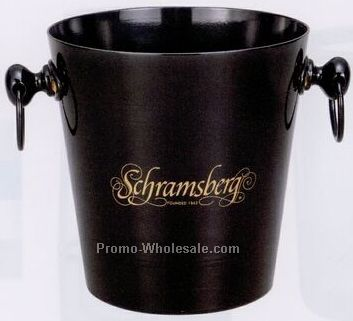Black Bouquet Wine Bucket W/ 2 Loop Handles