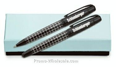 Boutique Stealth Ballpoint And Rollerball Pen Set