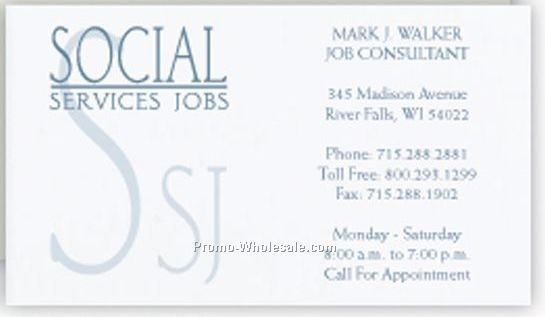 Classic Crest Solar White Business Card W/ 1 Special Ink