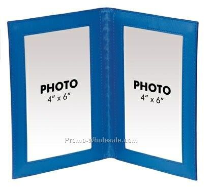 Colorplay Leather Double Photo Frame