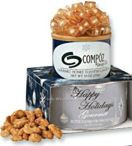 Corporate Gift Tower Butter Toasted & Salted Peanut W/ Holiday Sleeve
