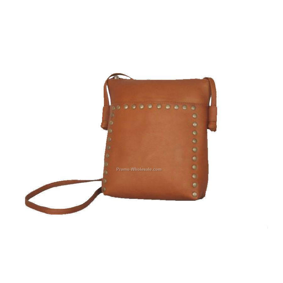 Cross Body Bag With Rivets
