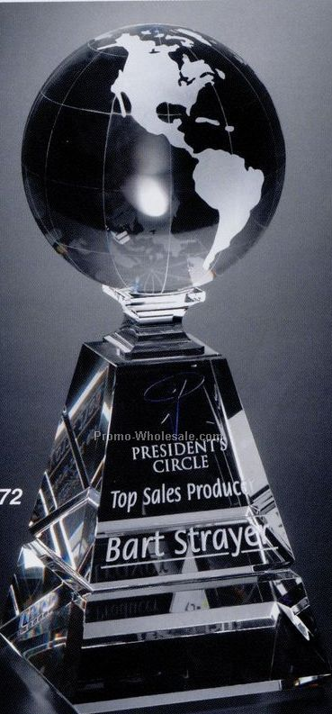 Crystal Global Pyramid Award 10""
