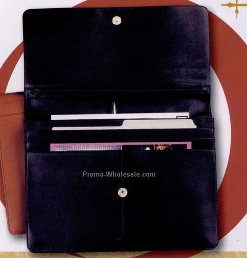 Genuine Leather Underarm Portfolio