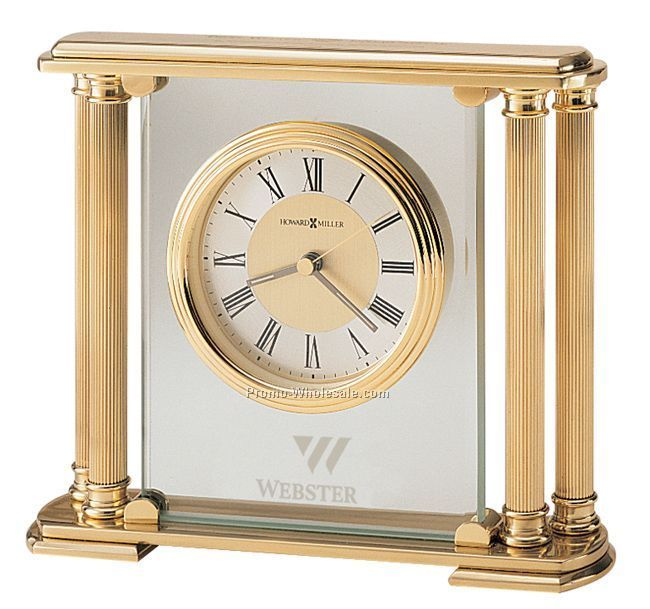 Howard Miller Athens Brushed Solid Brass Clock (Blank)