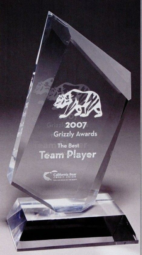 Large Summit Multi-faceted Acrylic Award (Laser Engraved)