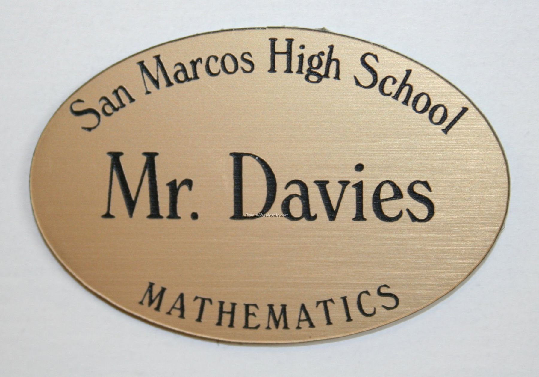 "Laser Engraved Badge - 3""x1-1/2"" Oval"