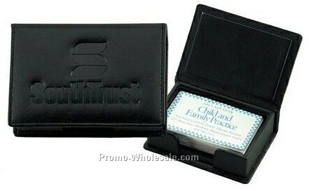 Leather Business Card Box