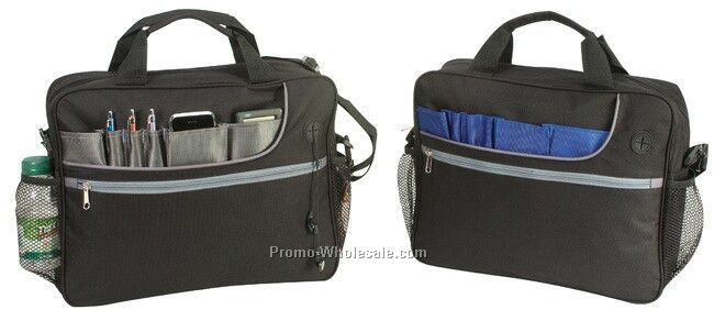 "New Style Deluxe Briefcase (15-1/2""x12-1/2""x4"")"