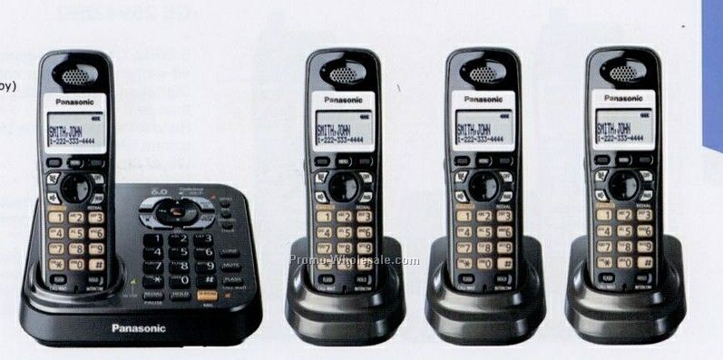 Panasonic 1.9 Ghz Digital Dect 6.0 4x Handsets Cordless Phone