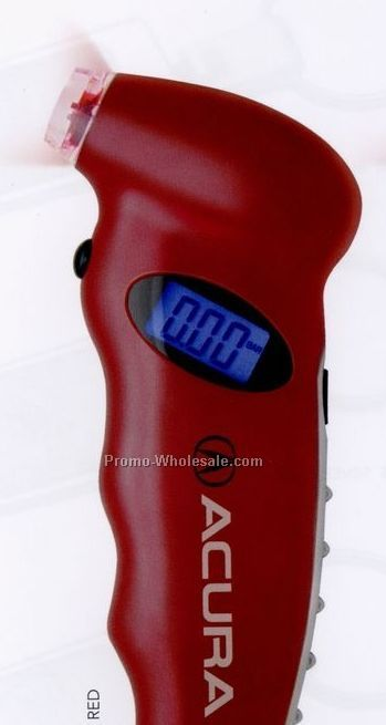 Red Digital Tire Gauge