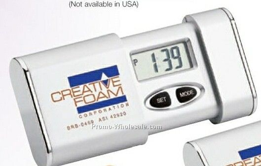 "Slide Out Travel Alarm Clock (3""x2-1/4""x3/4"")"