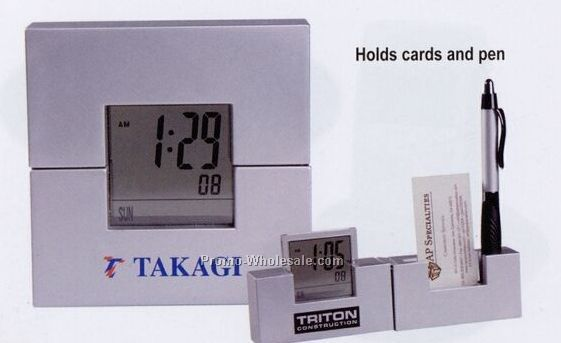 Square Digital Clock Desk Caddy (3-5 Days)