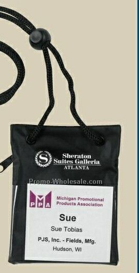 Trade Show Badge Pouch