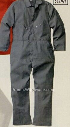 Walls Poly Cotton Coverall (36-60) - Gray