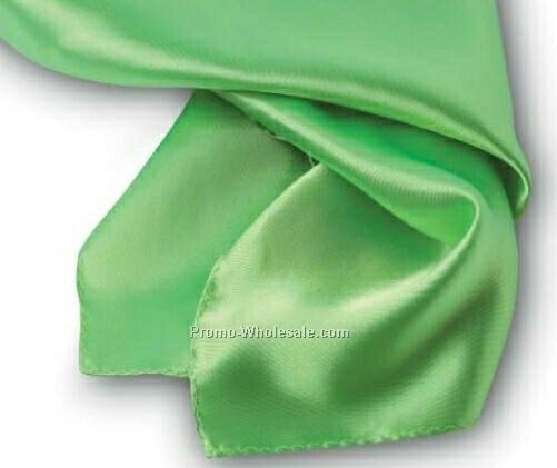Wolfmark Lime Green Solid Series Silk Scarf