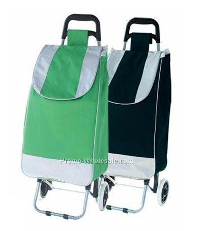 Shopping bag with trolley