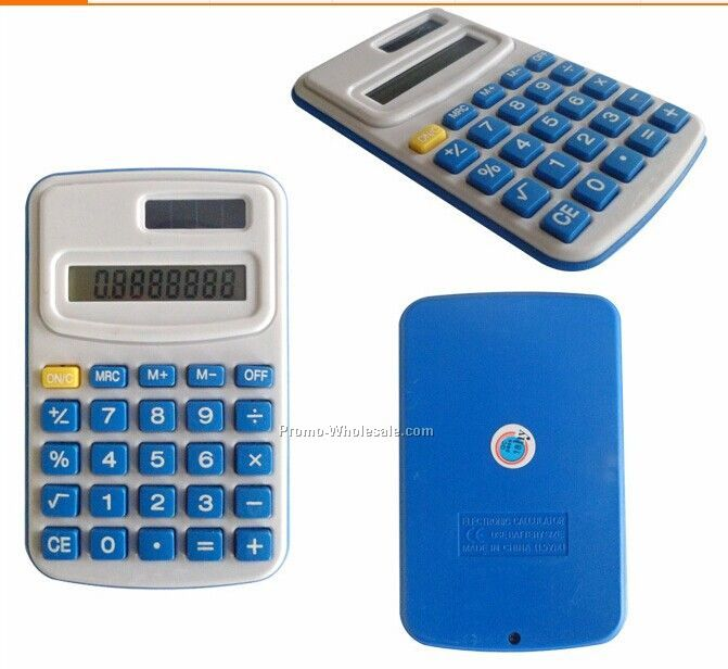 8 digital solar pocket Calculator w/ case